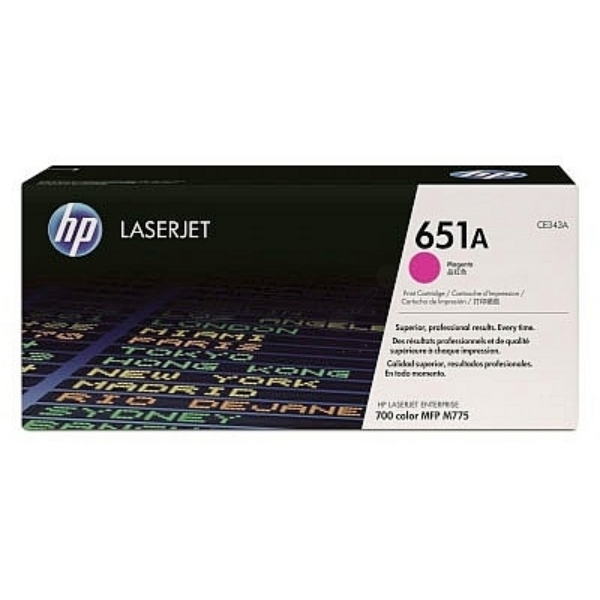 HP 651A Magenta Original LaserJet Toner Cartridge (CE343A)